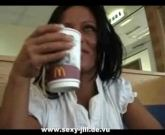 German pornstar fucked in Mcdonalds